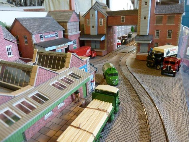 A scene on Brewery Tramway by Michael Glover.